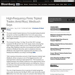 High-Frequency Firms Triple Trades in Rout