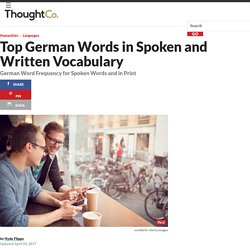 Most Frequent German Words in Speech and Writing