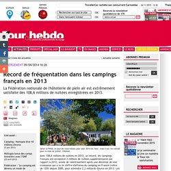 Record de fréquentation dans les campings français en 2013