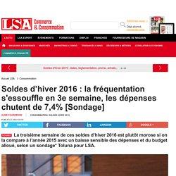 Soldes d'hiver 2016 : la fréquentation... - Grande Distribution et consommation