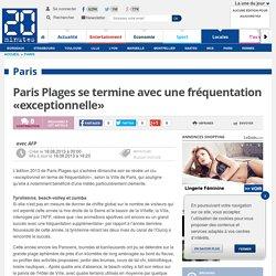 Paris Plages se termine avec une fréquentation «exceptionnelle»