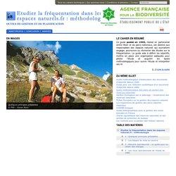 Etudier la fréquentation dans les espaces naturels.fr : méthodologie