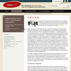 Savoirs CDI: Fréquentation d'un CDI : une étude à reproduire