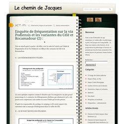 Enquête de fréquentation sur la via Podiensis et les variantes du Célé et Rocamadour (2) : - Le chemin de JacquesLe chemin de Jacques