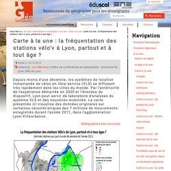 Carte à la une : la fréquentation des stations vélo'v à Lyon, partout et à tous âges ?