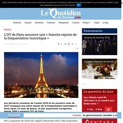 """L'OT de Paris annonce une """"franche reprise de la fréquentation touristique"""""""