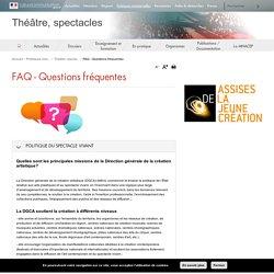 FAQ - Questions fréquentes - Théâtre, spectacles