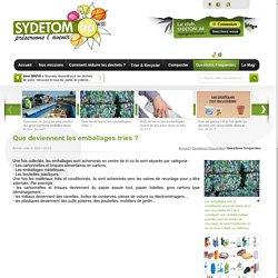 SYDETOM 66 › Questions fréquentes › Questions fréquentes › Que deviennent les emballages triés ?