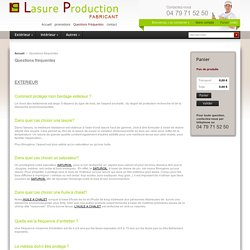 Questions fréquentes - Lasure Production