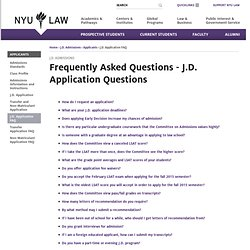 Frequently Asked Questions - J.D. Application Questions