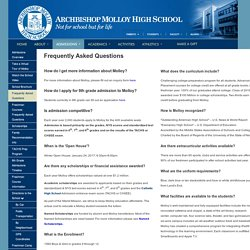 Find the FAQ Queries for Archbishop Molloy High School