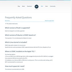 Frequently Asked Questions - Apple TV - OSMC