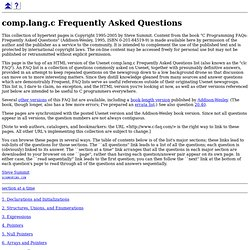 comp.lang.c Frequently Asked Questions