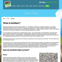 Lawn Care Frequently Asked Questions