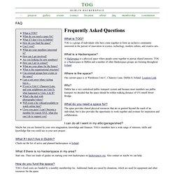 FAQ Tog-Dublin