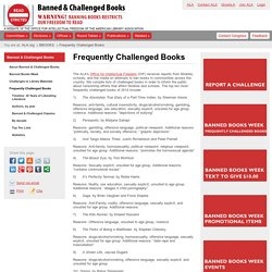 Frequently Challenged Books