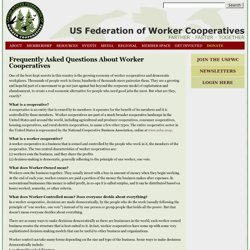 Frequently Asked Questions About Worker Cooperatives | US Federation of Worker Cooperatives