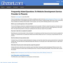 Frequently Asked Questions To Website Development Service Provider In Phoenix