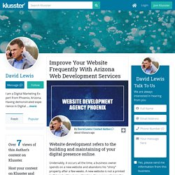 Improve Your Website Frequently With Arizona Web Development Services