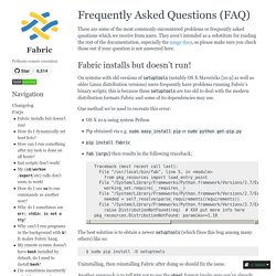 Frequently Asked Questions (FAQ) — Fabric documentation
