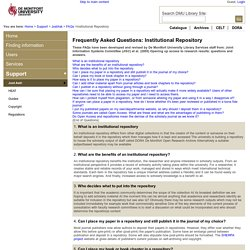 Frequently Asked Questions: Institutional Repository