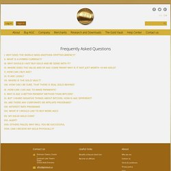 Frequently Asked Questions at Gold Vault