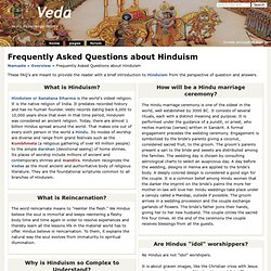 Frequently Asked Questions about Hinduism - वेद Veda