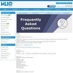 Frequently Asked Questions – KliqPrint