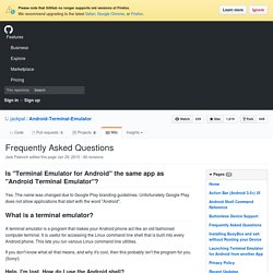 Frequently Asked Questions · jackpal/Android-Terminal-Emulator Wiki