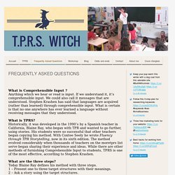 Frequently Asked Questions - Site de tprswitch !