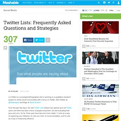 Twitter Lists: Frequently Asked Questions and Strategies
