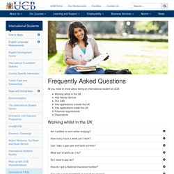 Frequently Asked Questions - University College Birmingham