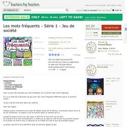 Les mots fréquents - Série 1 - Jeu de société by French Buzz