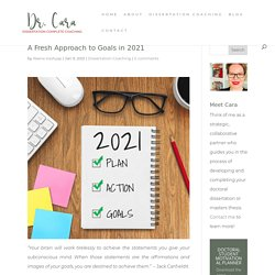 A Fresh Approach to Goals in 2021