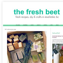 the fresh beet: DIY cold-process soap