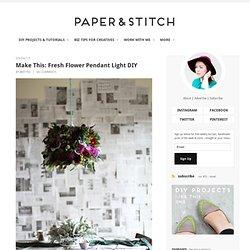Fresh Flower Pendant Light DIY