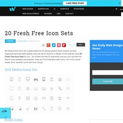 20 Fresh Free Icon Sets