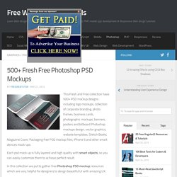 500+ Fresh Free Photoshop PSD Mockups