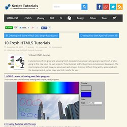 10 Fresh HTML5 Tutorials