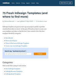 75 Fresh InDesign Templates (and where to find more)