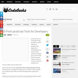 20 Fresh JavaScript Tools for Developers - Code Geekz