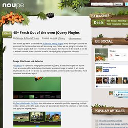 45+ Fresh Out of the oven jQuery Plugins