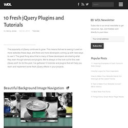 10 Fresh jQuery Plugins and Tutorials