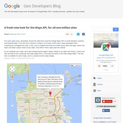 A fresh new look for the Maps API