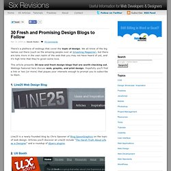 30 Fresh and Promising Design Blogs to Follow