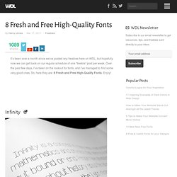 8 Fresh and Free High-Quality Fonts