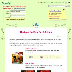 Fresh Raw Fruit Juice Recipes