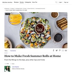 How to Make Fresh Summer Rolls at Home
