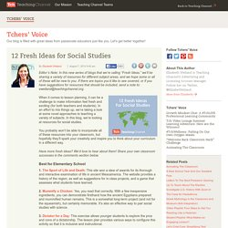 12 Fresh Ideas For Teaching Social Studies