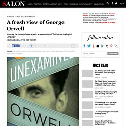 A fresh view of George Orwell